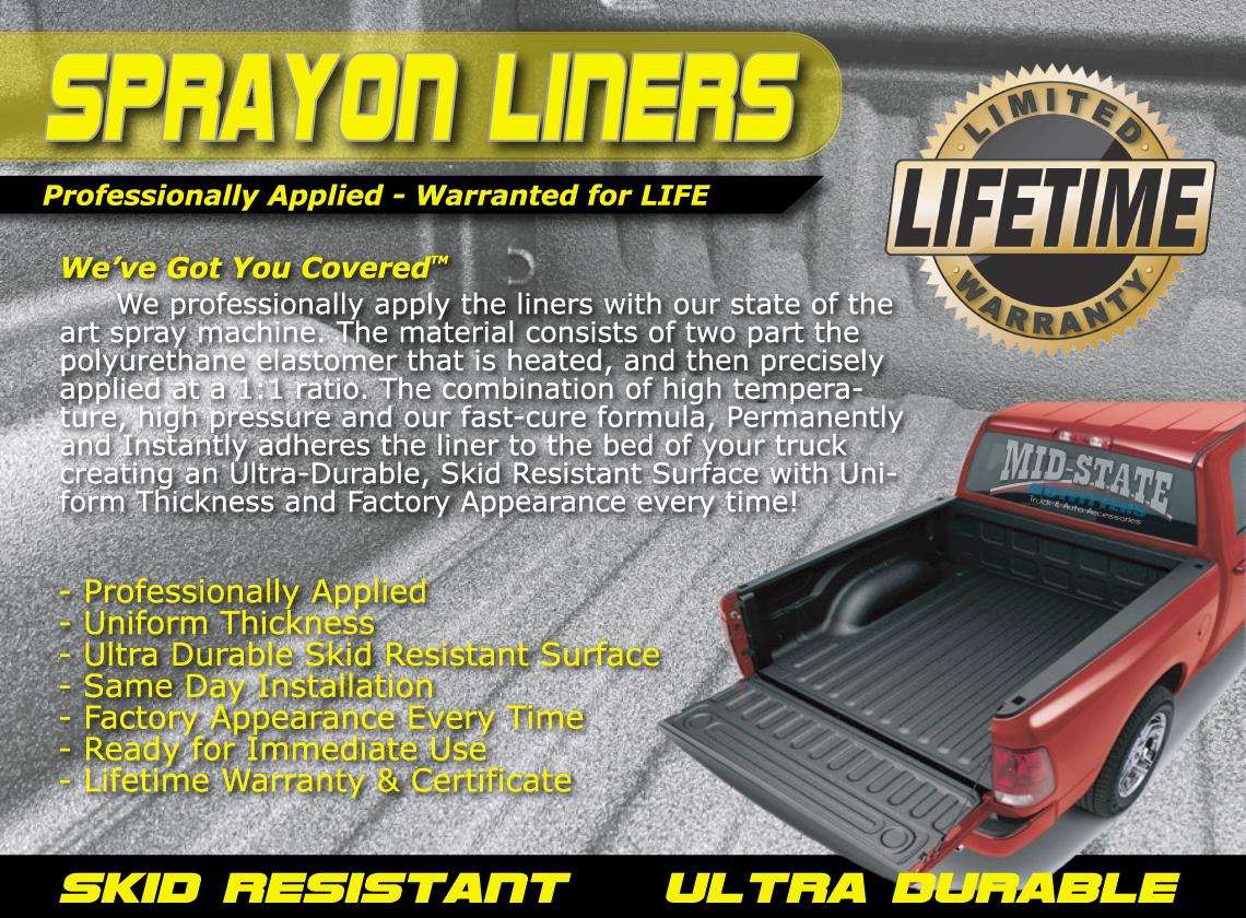 SprayIn Liners